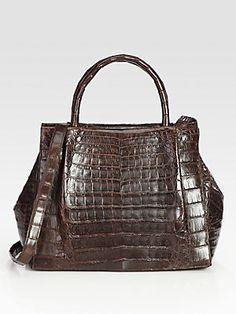 Nancy Gonzalez Croc Top-Handle Bag--Her bags are magnificent