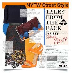 """NYFW Street Style"" by martso ❤ liked on Polyvore featuring мода, TIBI, Topshop, Roger Vivier, Giuseppe Zanotti, StreetStyle и talesfromthebackrow"