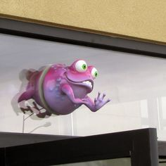 Funny Frogs for both sides of your window, head on one side, legs on the other from imaginationdental.com