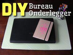 DIY - Bureau onderlegger, maak je eigen bureau onderlegger die je kan veranderen wanneer je maar wilt!