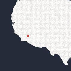 All roads lead to Vegas - close up #mickallan #maze #interactiveart #mazartlove #usa #vegas #artwork #map http://ift.tt/1SVNMmc