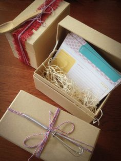 Wonderful Recipe Card Gift Set. Comes with your choice of recipe cards, a recipe card box and a mini whisk or wooden spoon.