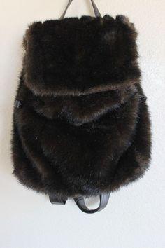 Isabellas Journey Brown Faux Fur Backpack Handbag Bag Purse #IsabellasJourney #BackpackStyle #chicfashiondeals