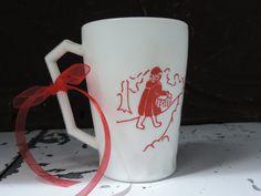 Vintage Hazel Atlas Child's Mug Little Red Riding Hood Nursery Rhyme Mug Mid century Children's Cup