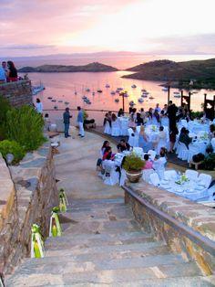 Wedding Decoration,Sunset in Aigis Suites on a wedding day,summer wedding in Kea Island