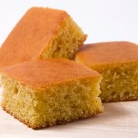 Vegan Cornbread Recipe--this was a decent approximation.  I added 1 T sugar and 1 t vanilla extract bc I like a sweet cornbread.  Denser than the dairy stuff, but still very good.