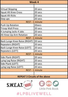 Week 4 final 12 week workout, pink book, wedding book, wedding tips, 12 Week Workout, Workout Plan For Men, Workout Plan For Beginners, Workout Plans, Wedding Book, Wedding Tips, Wedding Planning, Hiit At Home, Fat Burning Tips