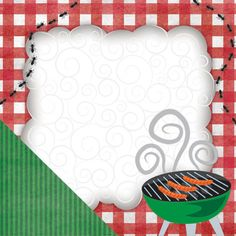 Food is on the Grill! Highlight your backyard BBQ in your #scrapbook with this ideal #paper!