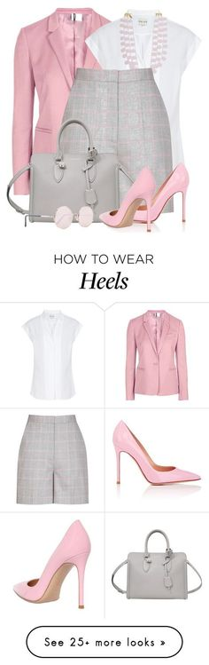 """Shorts, Blazer & Heels"" by brendariley-1 on Polyvore featuring Topshop…"