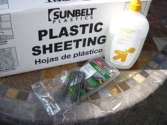 Another pinner said:  THIS REALLY WORKS AND TOTALLY INEXPENSIVE!  world's best slip and slide