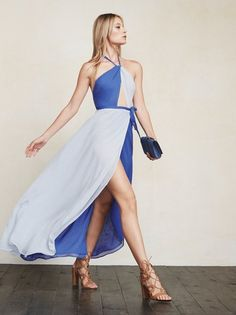 Colorblocking - we heard it's a thing. The Estella Dress will have you looking lovely and the best part is, we did the matching for you. https://www.thereformation.com/products/estella-dress-country-blue?utm_source=pinterest&utm_medium=organic&utm_campaign=PinterestOwnedPins