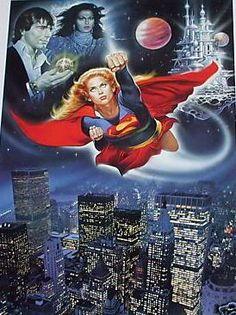 key art image for Supergirl The image measures 901 * 1253 pixels and is 354 kilobytes large. Helen Slater Supergirl, Supergirl 1984, Supergirl Movie, Comic Book Characters, Comic Books, Superman Artwork, Adventures Of Superman, Superman Family, Dc Heroes