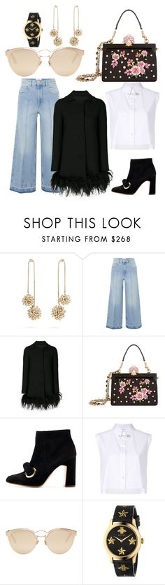 """""""ON THE LOOSE"""" by laura-melissa-cortes on Polyvore featuring Rosantica, Étoile Isabel Marant, Boutique Moschino, Dolce&Gabbana, Rupert Sanderson, Helmut Lang, Christian Dior and Gucci"""