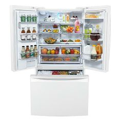 Kenmore Elite 25 cu. ft. French-Door Counter-Depth Bottom-Freezer Refrigerator - 35.75 W x 68.75(70.25) H x 24.0625(28.375/30.875) D {like Mom & Dad's, except counter-depth}