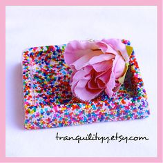 Sprinkle Candy Dish Bowl  Paper Clip Tray  Candy by tranquilityy