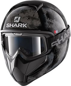 Shark Vancore Flare Black Silver Motorcycle Helmet (S) Shark Motorcycle Helmets, Shark Helmets, Biker Helmets, Biker Gear, The Road Warriors, Off Road Bikes, Open Face Helmets, Helmet Design, Riding Gear