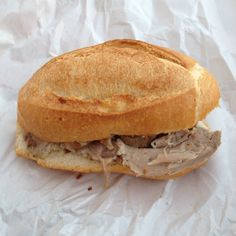 #bread and #rosted #pork in Italian language is #panino con #porchetta. It itastes so good