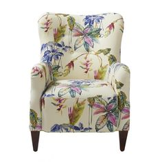 Jennifer Taylor Home Paradise Upholstered Arm Chair, Purple & Beige Living Room Chairs, Living Room Furniture, Furniture Chairs, Dining Chairs, Condo Furniture, Upholstered Furniture, Upholstered Arm Chair, Tufted Armchair, Modern Armchair