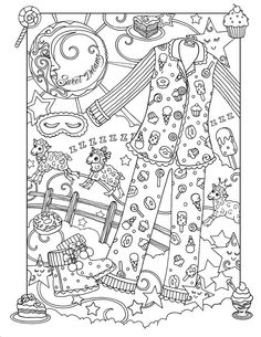 "Marjorie Sarnat's Fanciful Fashions Coloring for Everyone ""Sweet Dreams"""