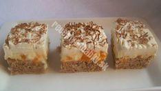 Susedka mi dala recept na tieto mandarinkové rezy a odvtedy ich robím pravidelne. Sú výborné. - Recepty od babky Krispie Treats, Rice Krispies, Tiramisu, Muffin, Food And Drink, Breakfast, Desserts, Nova, Fitness