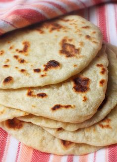 Fresh, homemade flour tortillas