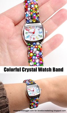 diy crystal watch band