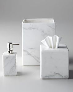 sale Marble Vanity Accessories - Horchow ($40 soap dispenser and $35 tumbler)
