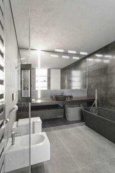 21 Black White and Grey Bathroom Ideas |  designlibrary.com.au  - Cafelab - Russian Apartment