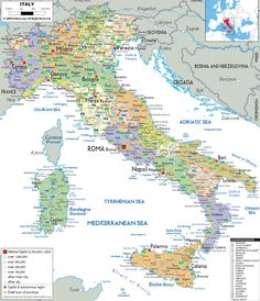Map Of Italy With Cities | ... map of Italy with all cities, roads and airports | Vidiani.com | Maps