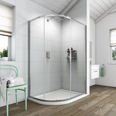 See our Clarity 6mm single door offset quadrant shower enclosure offer pack plus many more quadrant shower enclosures at VictoriaPlum.com. Plus 365 day no quibble returns. - £139