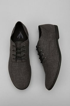 #MensShoes:Feathers Canvas Stentorian Oxford