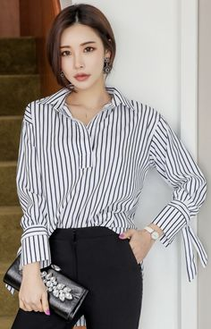 best work outfit ideas with collared shirt 56 Outfits Niños, Korean Outfits, Casual Outfits, Black Women Fashion, Asian Fashion, Classy Work Outfits, Collar Shirts, Women's Fashion Dresses, Shirt Outfit