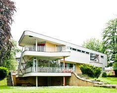 Haus Schminke no. Hans Scharoun, Bauhaus, Art And Architecture, Exterior Design, Modern Contemporary, Facade, Home And Family, House Design, Inspiration