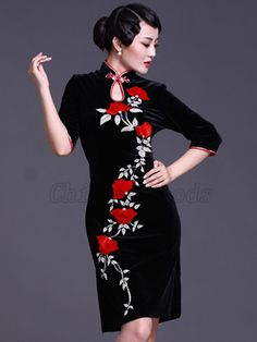 2012 Gorgeous Hand-Embroidered Chinese Cheongsam I love wearing Chinese fashions . . . traditional and current trends.