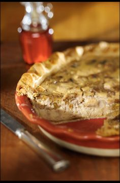 Maple Walnut Custard Pie