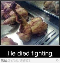He died fighting...