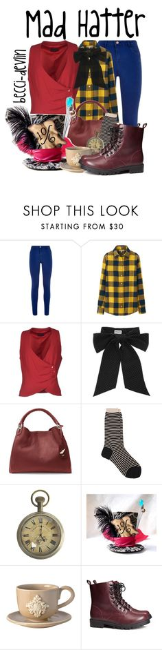 """Mad Hatter"" by lovelylittledisney ❤ liked on Polyvore featuring Uniqlo, Emporio Armani, Yves Saint Laurent, Diane Von Furstenberg, Antipast, Authentic Models, Bellini Sara and H&M"