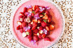 raw cake, mansikkaraakakakku / Hannan soppa