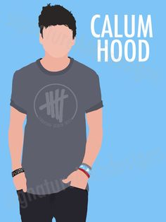 Minimalist Digital Artwork of 5 SECONDS OF SUMMER Band Member, Calum Hood. (11.7x16.5 inches / A3)