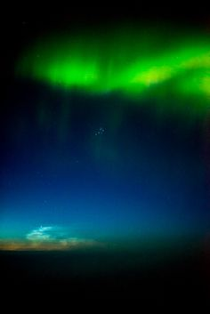 Aurora, Noctilescent Cloud;  Conjunction of aurora, Pleiades and noctilucent clouds  Taken by J. Grosmann on September 8, 2016 @ Iqualuit Canada