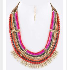SUPER SALE. Cynthia  necklace New. In reds Jewelry Necklaces