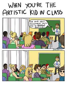 87 Hilarious Comics That Perfectly Describe The Life Of An Artist - Memes And Humor 2020 Funny Shit, Stupid Funny Memes, Funny Relatable Memes, Funny Cute, Hilarious, Funny Sarcastic, Funny Gifs, Videos Funny, Meme Comics