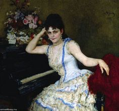 Ilya Repin - The Portrait of pianist Sophia Menter
