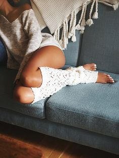 Lemons Sweater Web Over The Knee Legwarmer at Free People Clothing Boutique
