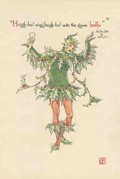 Giclee Print: Holly Personified Art Print by Walter Crane by Walter Crane : Walter Crane, Framed Prints, Canvas Prints, Art Prints, Framed Wall, English Artists, Flower Fairies, Japanese Prints, Arts And Crafts Movement