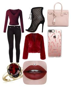 """""""Untitled #9"""" by stefania-serban on Polyvore featuring LE3NO, Ted Baker, Somedays Lovin, Yves Saint Laurent, Casetify and Jewelonfire"""