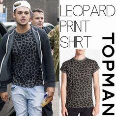 Male Fashion Trends: Jaymi Hensley y su Leopard Print T-Shirt de Topman