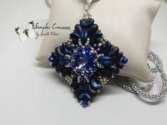 <p>ciondolo blu</p> #bluependant #handmadejewelry