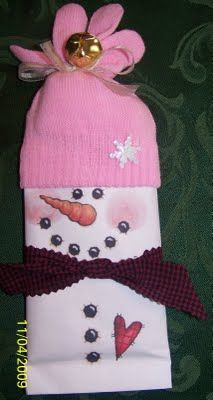 Crafter Thoughts: Popcorn snowmen and snowman nugget
