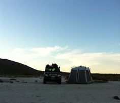 Our camp set up in Mulege on the same secluded beach.